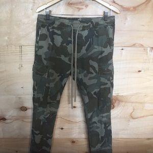 Skinny camouflage pants